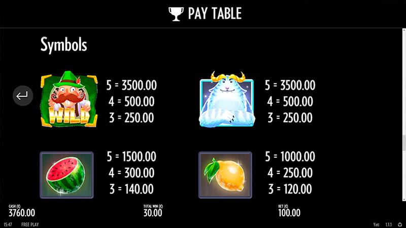Изображение игрового автомата Yeti 3