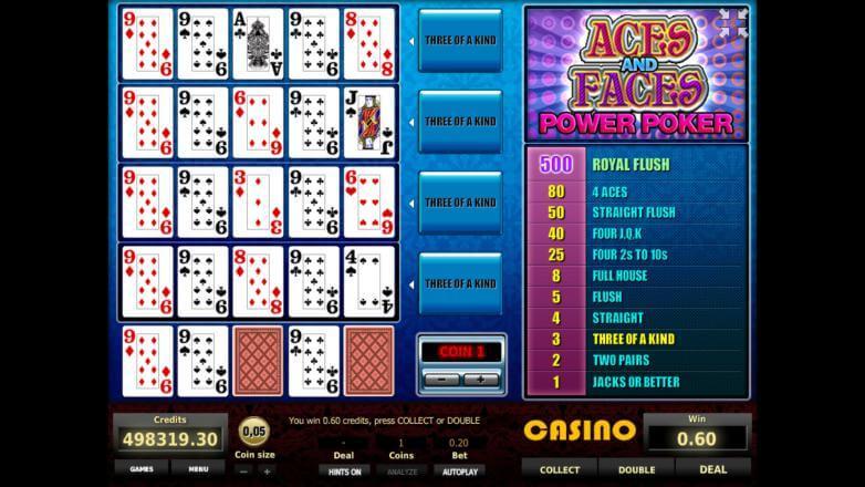 Изображение игрового автомата Aces and Faces 4-Hand Poker 2