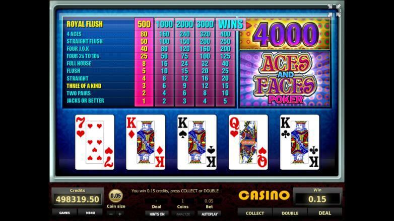 Изображение игрового автомата Aces and Faces Poker 2