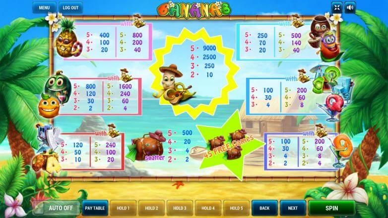 Изображение игрового автомата Bananas 3