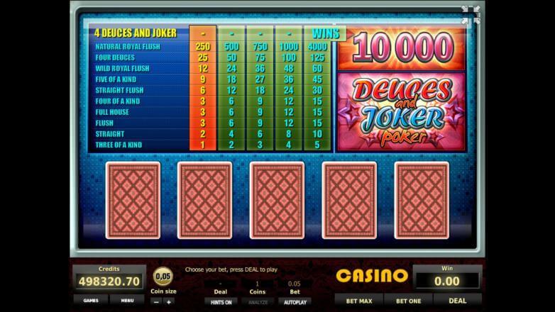 Изображение игрового автомата Deuces and Joker Poker 1
