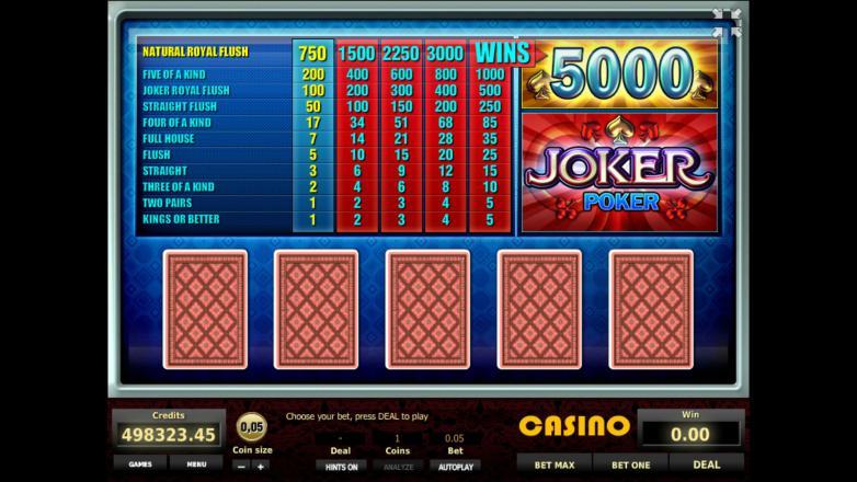 Изображение игрового автомата Joker Poker 1